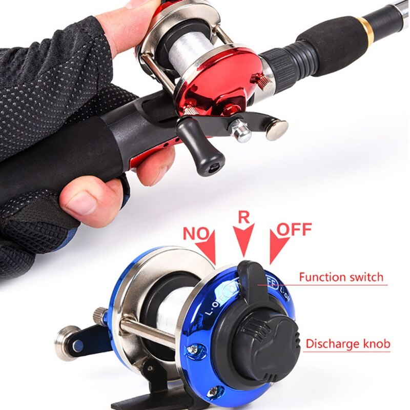 Rueda de agua profesional para peces, bobina de rodillo para Baitcast con alambre de 50M, Mini cebo de Metal, carrete de pesca de hielo para barcos giratorios