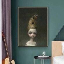 Enfantin étrange monde sombre reine abeille Art toile affiche peinture mur photo imprimer maison chambre décoration Art