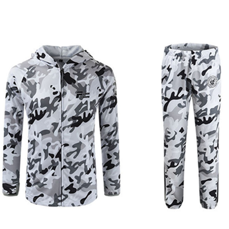 New Hooded Long sleeves men's wome'n Fishing Clothes sets Anti UV50+ Breathable Quick drying man Fishing Pants and Fishing Shirt enlarge