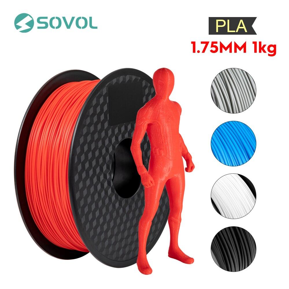 1KG/rollo Sovol 3D filamento de impresora PLA 1,75mm alta calidad 3D Material de la pluma de impresión 5 colores para todas las impresoras 3D y pluma 3D