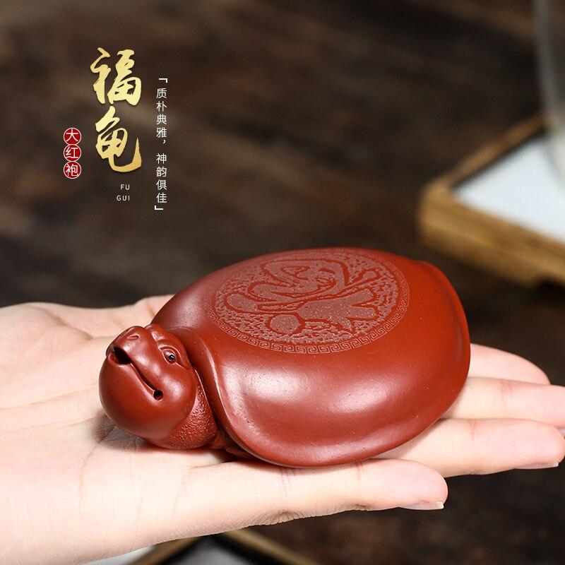 قطع متنوعة من مواد الأثاث يمكن رفع الحظ لعب سعيد خام dahongpao السلاحف شاي الحيوانات الأليفة