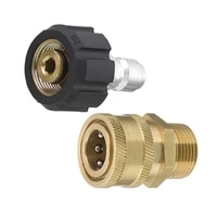 pressure washer adapter set quick connect kit metric m22 15mm female swivel to m22 male fitting 5000 psi