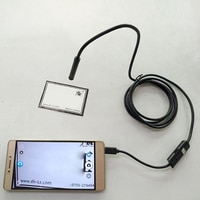 FDBRO Endoscope Camera 7mm Flexible IP67 Waterproof Inspection Borescope Camera for Android Usb PC Notebook Sewer Led Camera