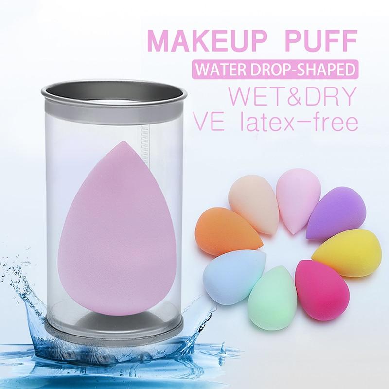 Pro esponja cosmética para polvos BB Cream maquillaje esponja Facial mezcla base cortar gotas de agua maquillaje huevo seco y mojado doble uso