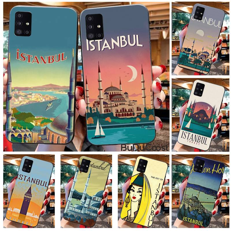 Turkey Istanbul travel poster Phone Case For Samsung Galaxy A21S A01 A11 A31 A81 A10 A20E A30 A40 A50 A70 A80 A71 A51