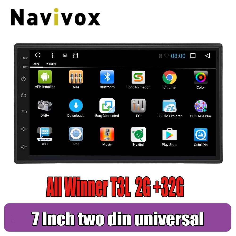 Navivox Android 9.0 For Nissan Volkswagen TOYOTA Honda KIA Hyundai Lada Renault Mazda Universal Car radio GPS 2 din DVD player