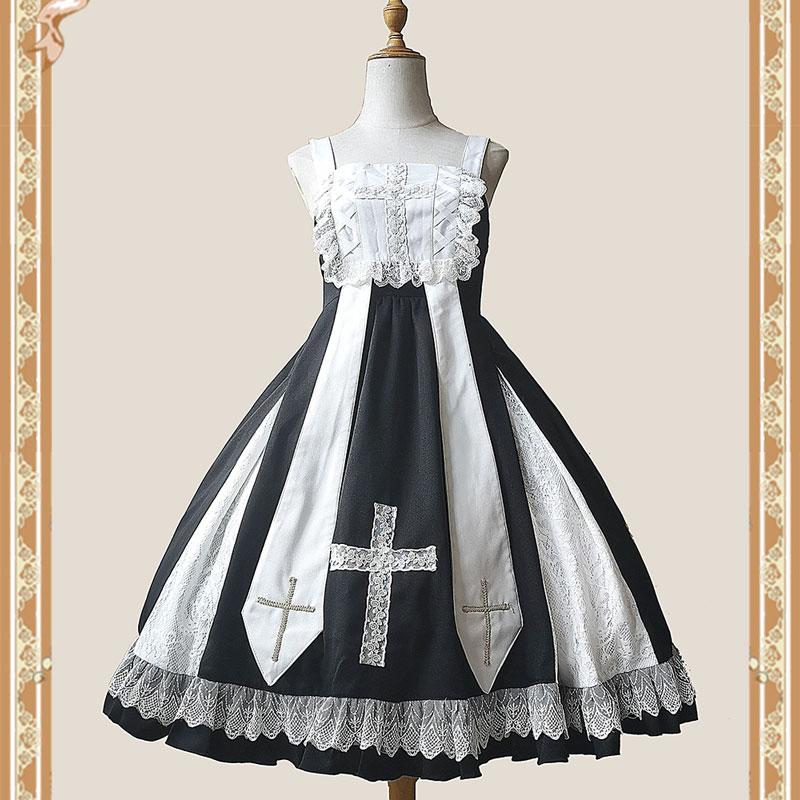 فستان الحفلات من Infanta, فستان حفلة قوطي لوليتا JSK متوسط الطول من Infanta