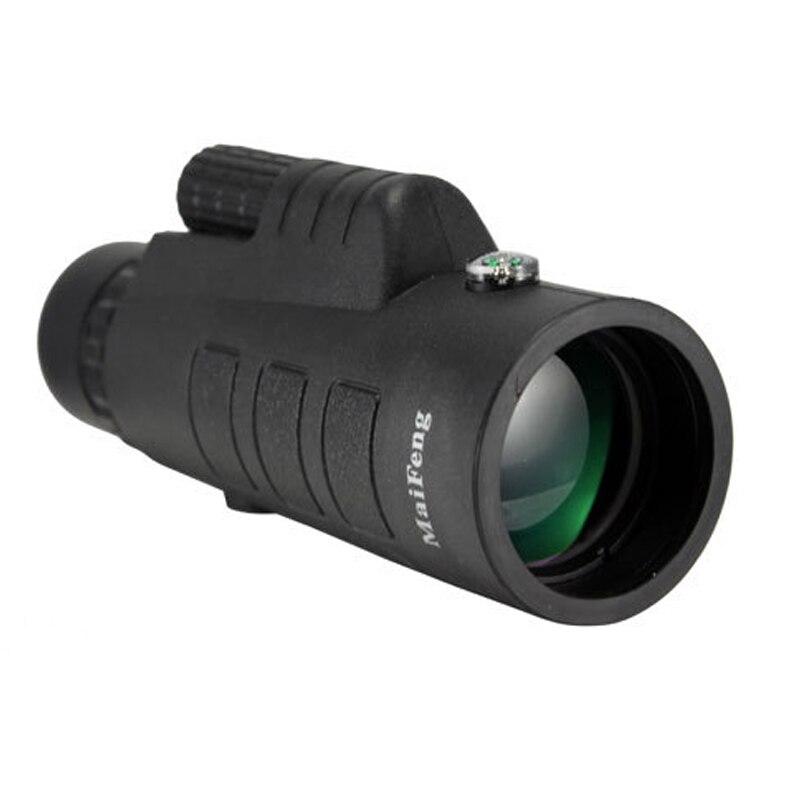35X50 HD caza monocular de nitrógeno Zoom prismáticos profesionales telescopio con brújula para Camping caza senderismo turismo