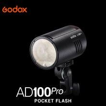 Карманная вспышка Godox AD100 pro 2,4G Беспроводная вспышка 100Ws TTL 2600 мАч портативная наружная для fuji nikon Canon Sony
