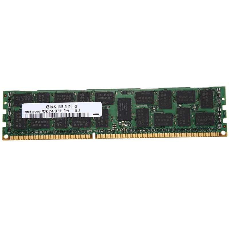 4GB DDR3 Memory RAM 2Rx4 PC3-10600R 133Hz 1.5V REG ECC 240-Pin Server RAM for Samsung M393B5170FH0-CH9