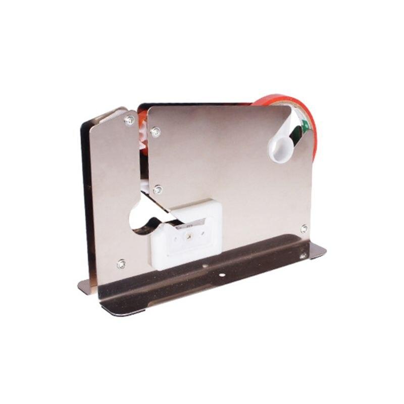 Stainless Steel Supermarket Bag Sealing Machine Food Packaging Fruit Shop Packer Portable Tape Cutter Dispenser