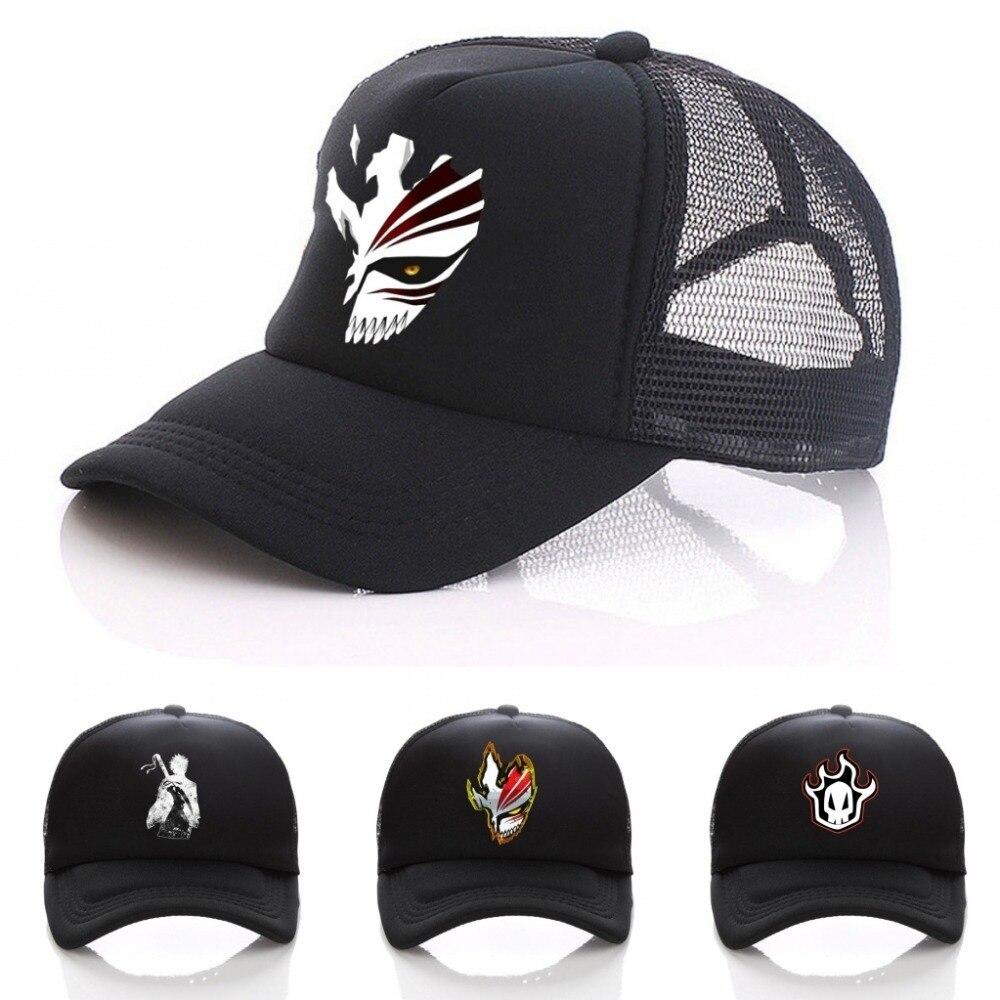 Снэпбэк Кепка для мужчин и женщин, регулируемая шапка в стиле японского аниме «Death», с мультяшным принтом, цвет черный, хип-хоп