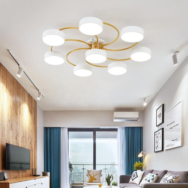 nordic quarto sala de estar macaron conduziu a lampada do teto do hotel restaurante