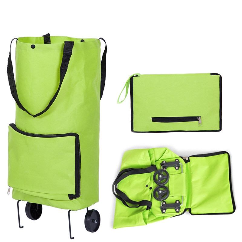 Folding Shopping Bag Shopping Buy Food Trolley Bag on Wheels Bag Buy Vegetables Shopping Organizer Portable Bag  - buy with discount