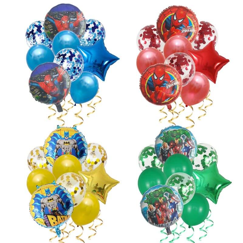 9pcs-spiderman-iron-man-captain-america-super-hero-balloons-the-avengers-decorazioni-per-feste-di-compleanno-giocattolo-per-bambini-globos-in-lattice
