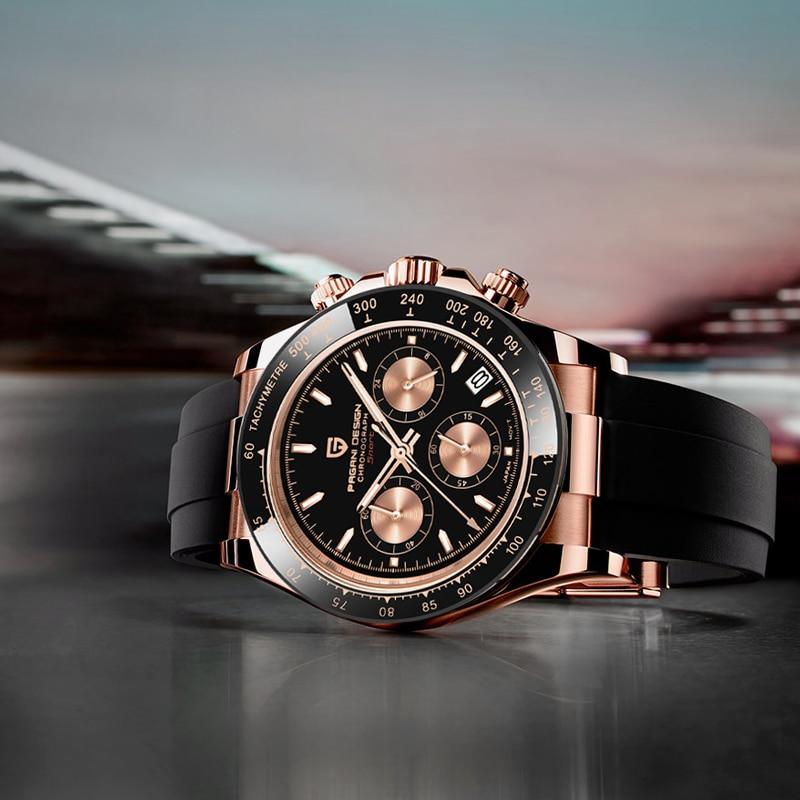 2021 New PAGANI DESIGN Mens Quartz Watches Automatic Date Luxury Gold Wristwatch Men Waterproof Chronograph Japan VK63 Clock man