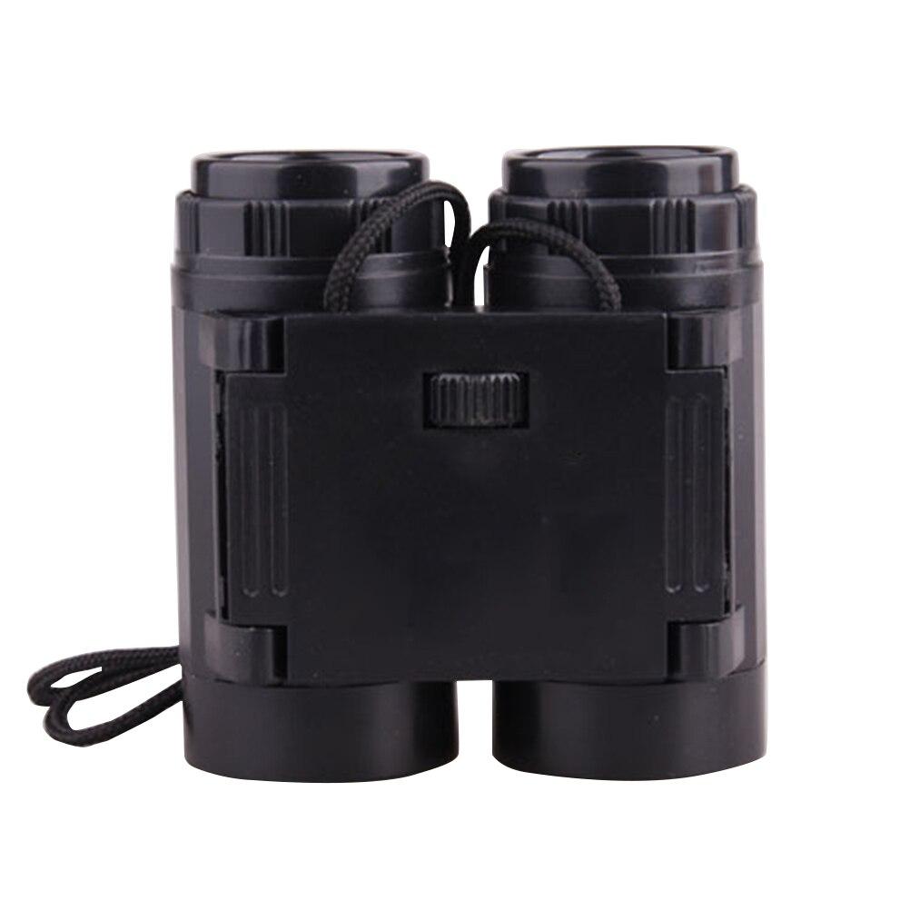 Binoculares negros creativos para niños, binoculares para telescopio, juego de accesorios, regalo de cumpleaños para entretenimiento, avistaje de aves