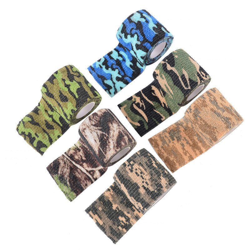 Outdoor 4.5*5cm Tape Military Camo Tapes Waterproof Camouflage Wrap water Gun Stretch Bandage Tools outdoor toys for children