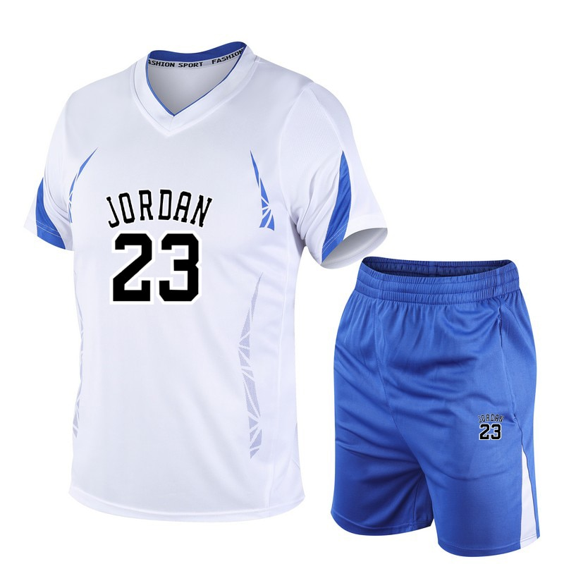 Chándal de poliéster para hombre, camisa de fitness para hombres, traje 2020 para correr, camiseta + Pantalones, ropa deportiva de pista y campo, traje de fitness M-4XL