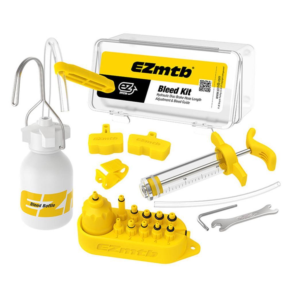 EZmtb, Kit de purga de aceite de freno de disco de freno hidráulico de bicicleta para SHIMANO/SRAM/TEKTRO/MAGURA Series MTB, herramienta de reparación de frenos de bicicleta de carretera