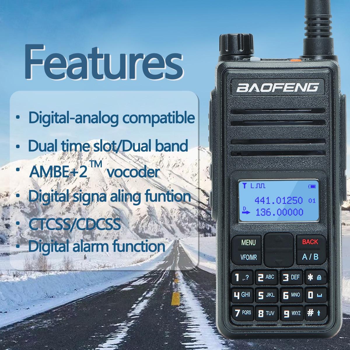 2021 New Baofeng DM-1801A Dual Time Slot DMR Tier I&II Radio Digital Analog136-174/400-470MHz Walkie Talkie Hunting DM-5R DM-860 enlarge