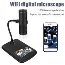 Caméra de Microscope électronique Wifi HD 1080P 2G + objectif IR 8 lampes LED réglables Source 50-1000 fois grossissements Format JPEG MP4