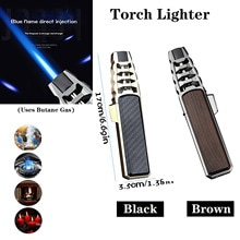 Visible Gas Blue Flame Torch Turbo Lighter Spray Gun Electronic Lighter Gas Lighter 1300C Butane Cig
