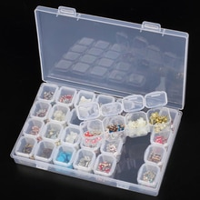 28 Slots Diamond Painting Kits Plastic Storage Box Dismountable Nail Art Rhinestone Tools Beads Home Storage Box Organizer