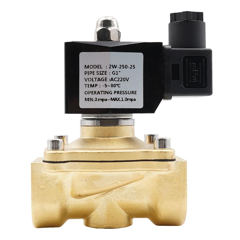"Normally Closed Solenoid Valve For Water Oil Air,AC220V DC12V DC24V AC24V,G3/8""toG2"" Brass Electric Solenoid Valve,NBR or VITON."
