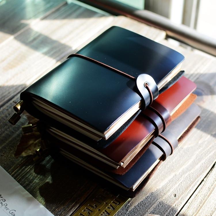 Pure Kraft Notebook retro Kraft Paper notepad small carry Korean Creative Diary hand book muji nootbook