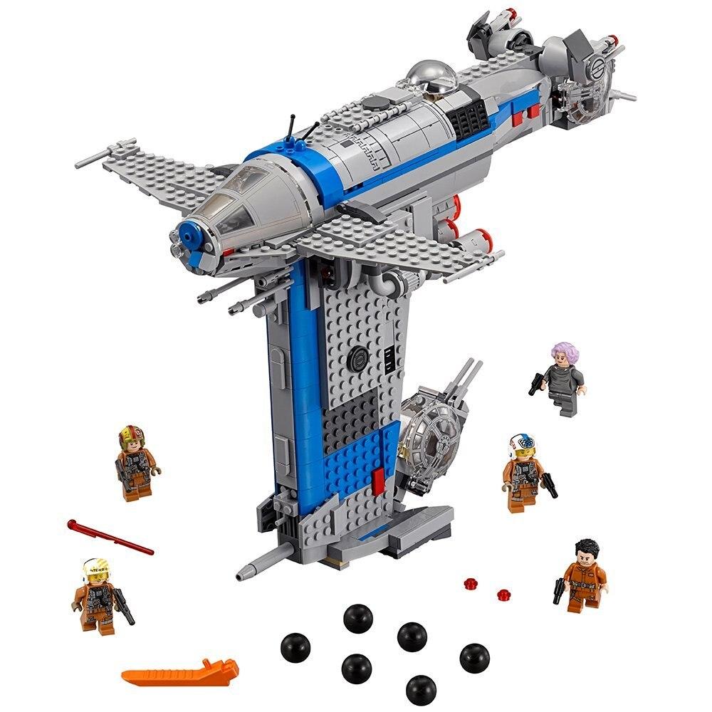 Juguete de Star Wars de LA ARMADA DE LA REPÚBLICA DE Lepining conjunto StarWars Compatible con Lepining 75188 barco para niños juguetes educativos de bloques