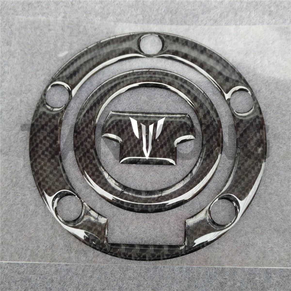 Apto para Yamaha MT-07 MT-09 FZ07 FZ09 MT07 MT09 de fibra de carbono de combustible almohadilla de tanque de aceite etiqueta Protector de la cubierta de la etiqueta engomada