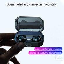Tanold tws 5.0 alta fidelidade sem fio bluetooth fones de ouvido led display com cancelamento de ruído ipx7 à prova dwaterproof água com 6000mah caixa de carregamento g03