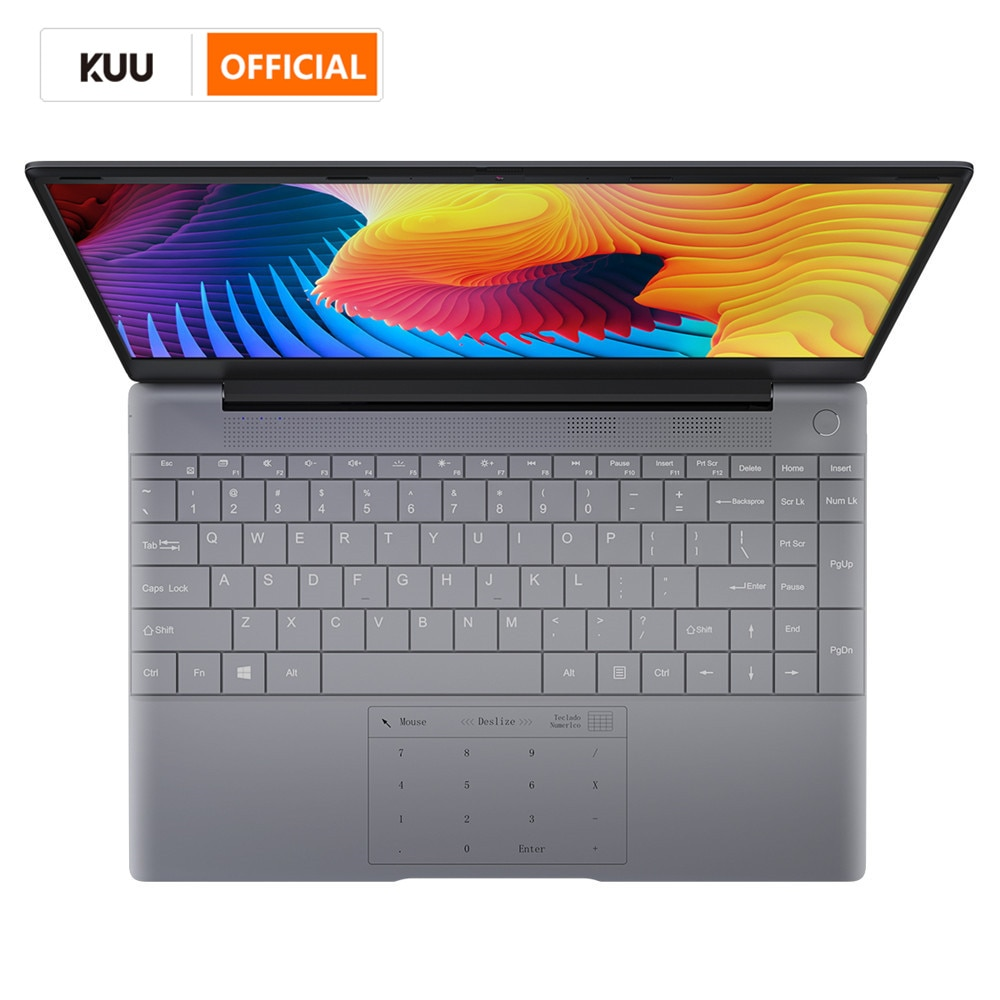 KUU K2 All Metal 14.1 Inch IPS Screen 8G RAM 512G 256GB SSD Fingerprint Notebbok Full Size Backlit L