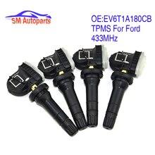 Новая система контроля давления в шинах EV6T 1A180 CB EV6T 1A180 DB шин Давление Сенсор подходит для Ford Focus Ranger 433 МГц EV6T 1A150 CB