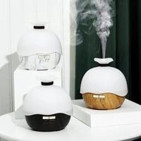 Humidificateur dair ultrasonique Grain de bois   De 400ml  avec lampe de veilleuse  diffuseur dhuiles essentielles  aromatherapie  pour la maison et le bureau