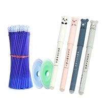 26 pcsset animals panda erasable gel pen 0 5mm erasable pen refills rods washable handle school office supplies stationery