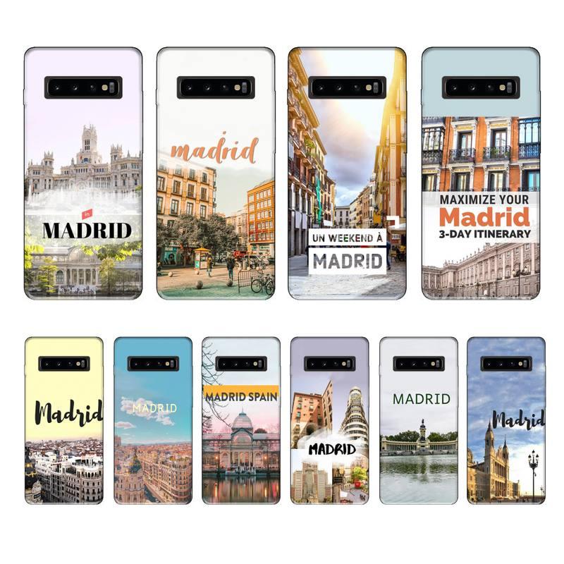 Madrid-funda negra de lujo para teléfono móvil, carcasa trasera para Samsung Galaxy...