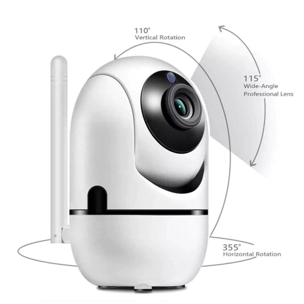 1080P Видеоняни и радионяни с Камера Обнаружение движения сигнализация со звуком двухстороннее аудио видео няня камера для домашней безопасн...