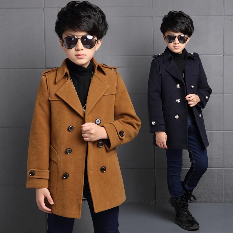 2020 de alta qualidade treliça crianças casaco lã para meninos moda outono inverno jaqueta menino blusão crianças inverno casaco