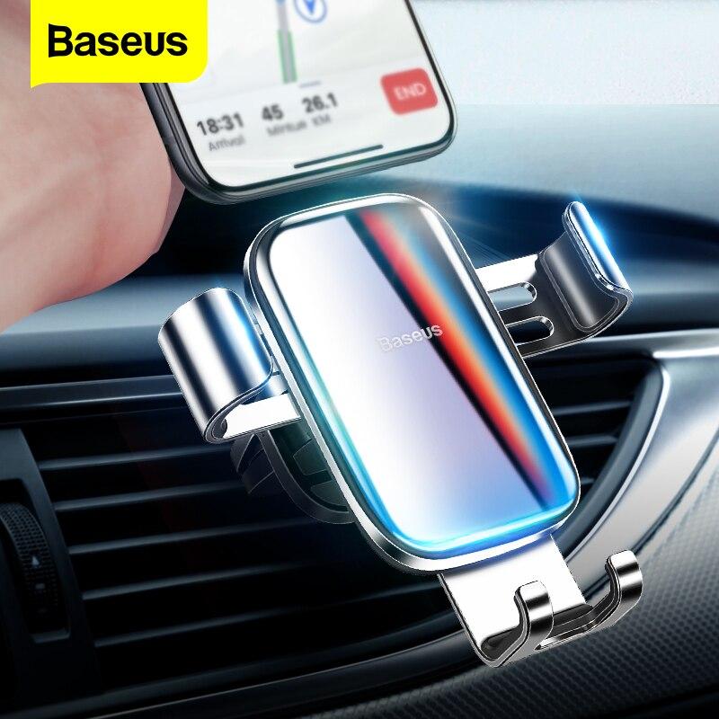 Baseus роскошный градиентный Цветной Автомобильный держатель для телефона для iPhone Samsung Gravity крепление на вентиляционное отверстие автомобильный сотовый мобильный телефон держатель подставка