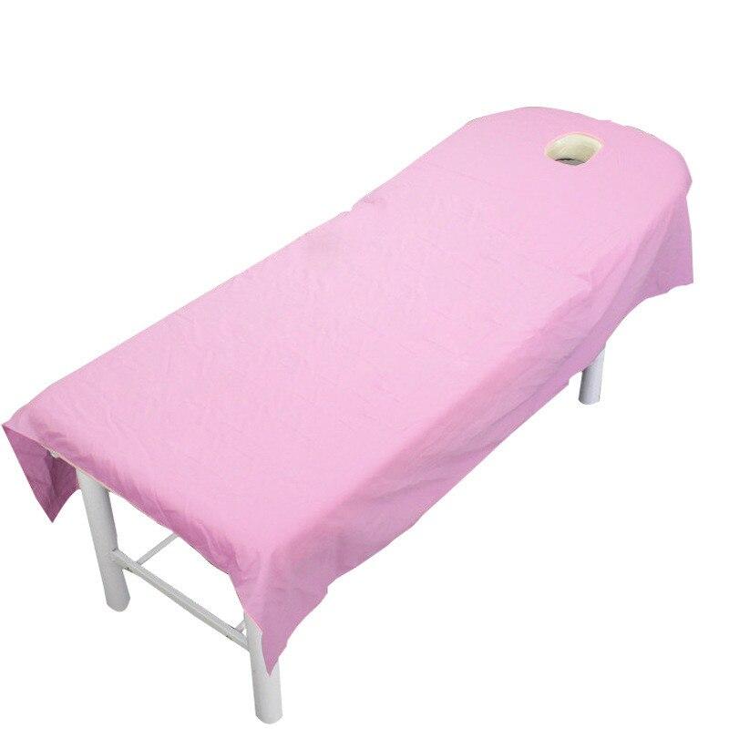 Sábanas de salón de belleza cosmética profesional de algodón puro en 9 colores, tratamiento de SPA, masaje, sábanas de mesa con orificio para salón de belleza
