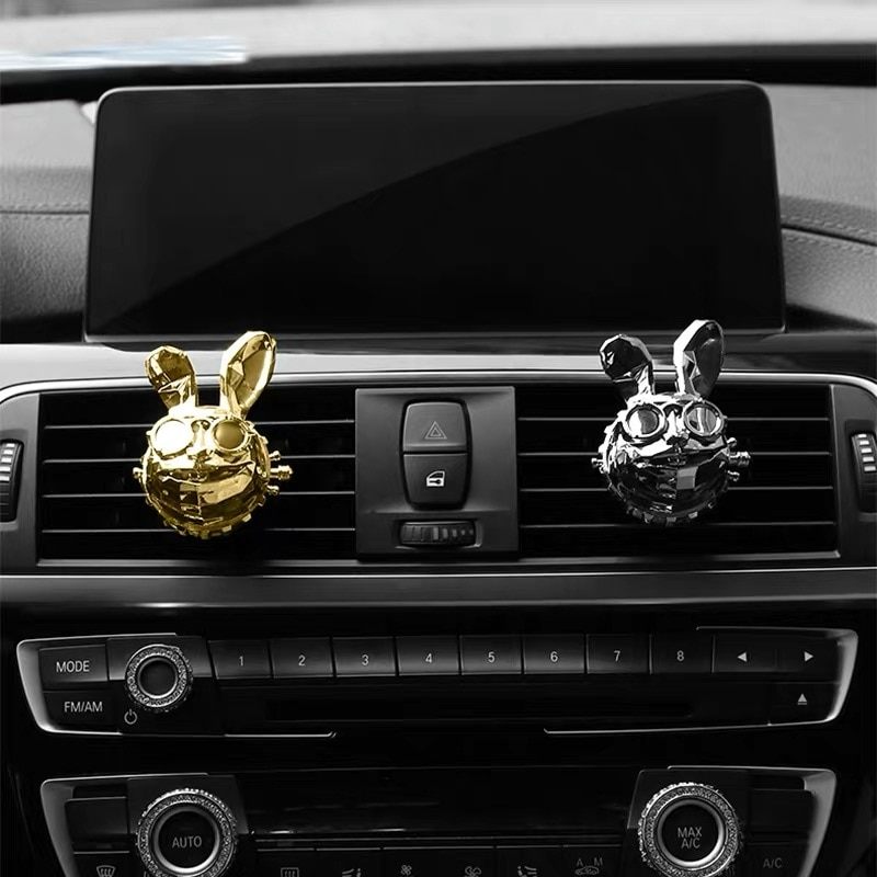 2021 Newest Bulldog Car Air Freshener Creative Cool Rascal Rabbit Pattern Car Perfume Vent Clip Cool