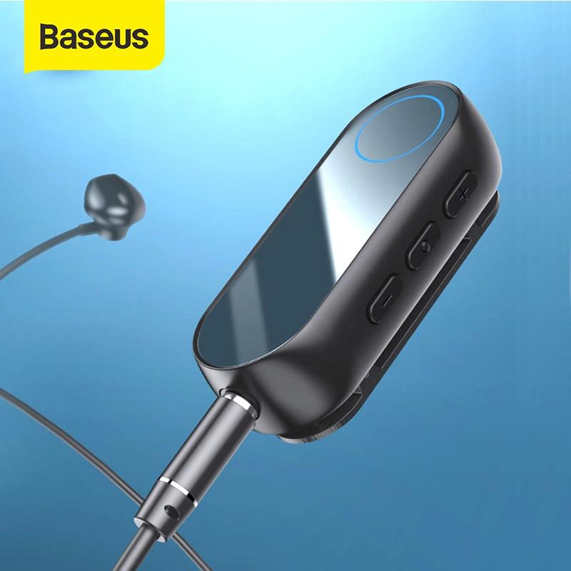 Baseus Bluetooth 5,0 Empfänger 3,5mm Jack Audio Bluetooth transmitter für Kopfhörer Kopfhörer Lautsprecher Drahtlose Bluetooth Adapter