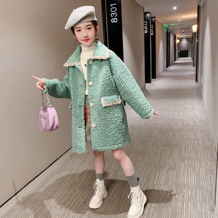 Children's Faux Fur Turndown Collar Jackets 2020 Autumn Winter Kids Baby Coat Girls Fake Fur Outerwear Toddler Warm Coats W942 enlarge