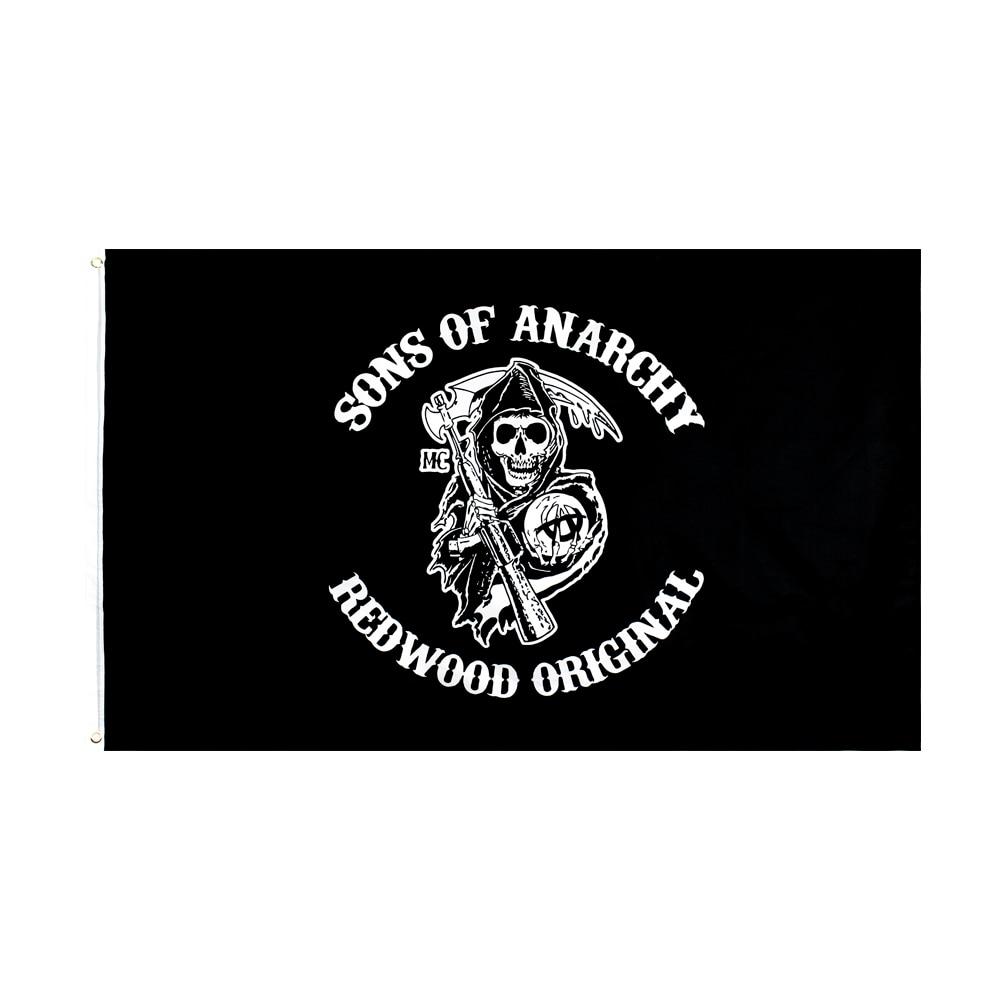 60x90cm 90x150cm. Los hijos de la anarquía California bandera para decoraciones