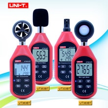 UNI-T UT333BT UT353BT UT363BT UT383BT Digital tester di umidità del Mini Anemometro light meter LUX Digital sound meter