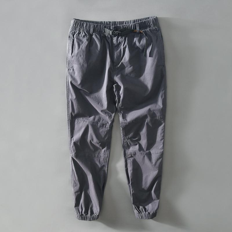Мужские повседневные брюки в простом стиле, спортивные штаны-карго в стиле милитари, тактические модные Мешковатые Свободные узкие брюки в ...