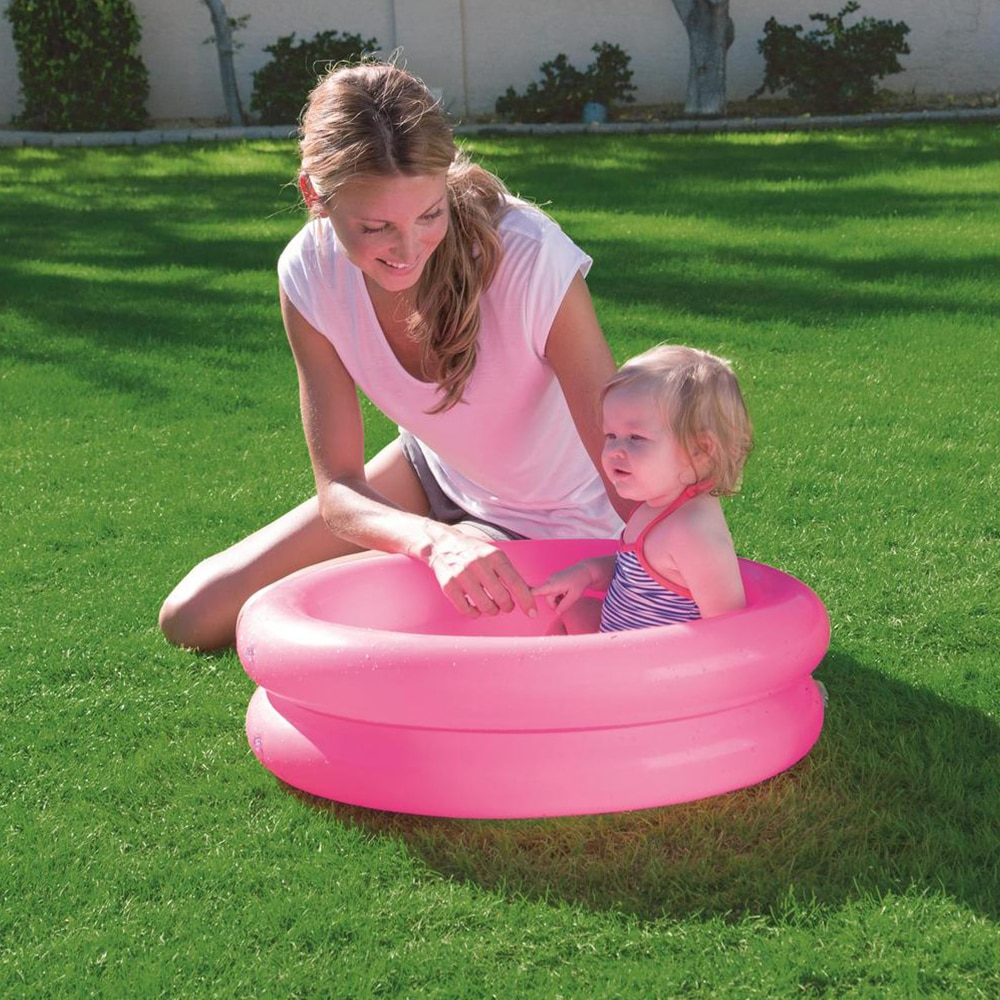 Pool Baby swimming Child Summer kid Water Toys inflatable Bath Tub Round lovely animal printed bottom piscina infantil