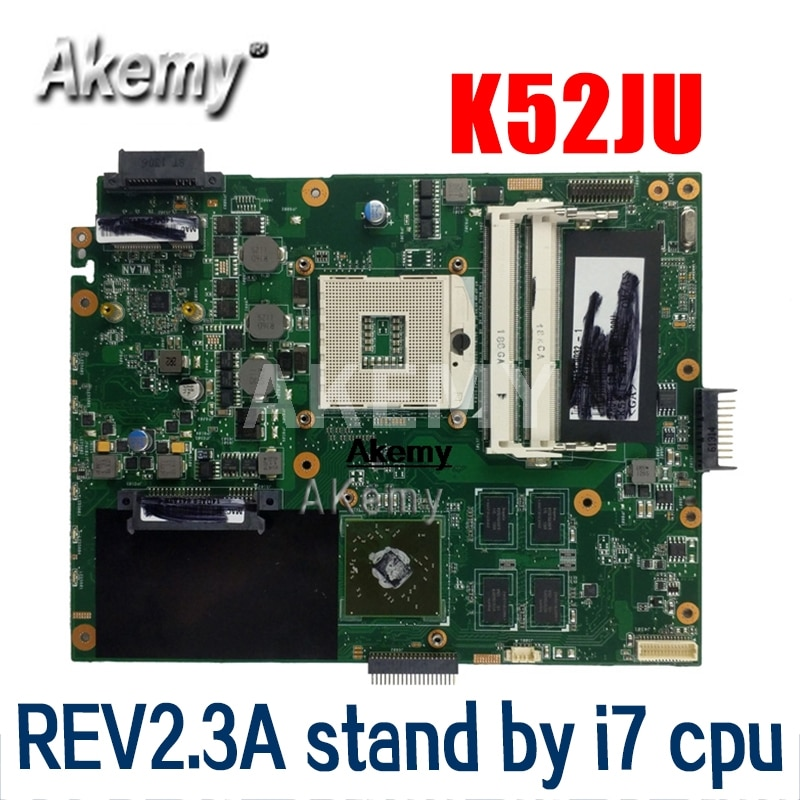 K52JT K52JU اللوحة ل For Asus K52JU K52J A52J K52JR K52 K52JE X52J كمبيوتر محمول اللوحة اللوحة REV2.3A HD6370 512M HM55